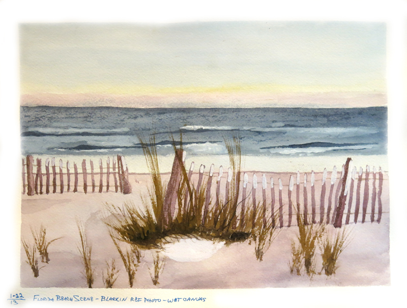 0135-G15-FloridaBeachSceneFromWC-Watercolor-Jan,13
